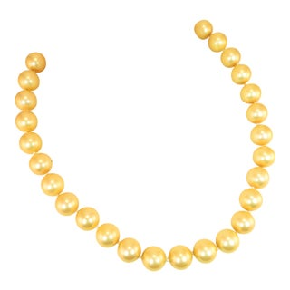 Faux South Seas Pearl Necklace 1940s For Sale