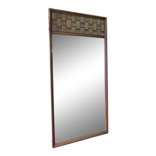 Mid-Century Modern Brutalist Mirror For Sale