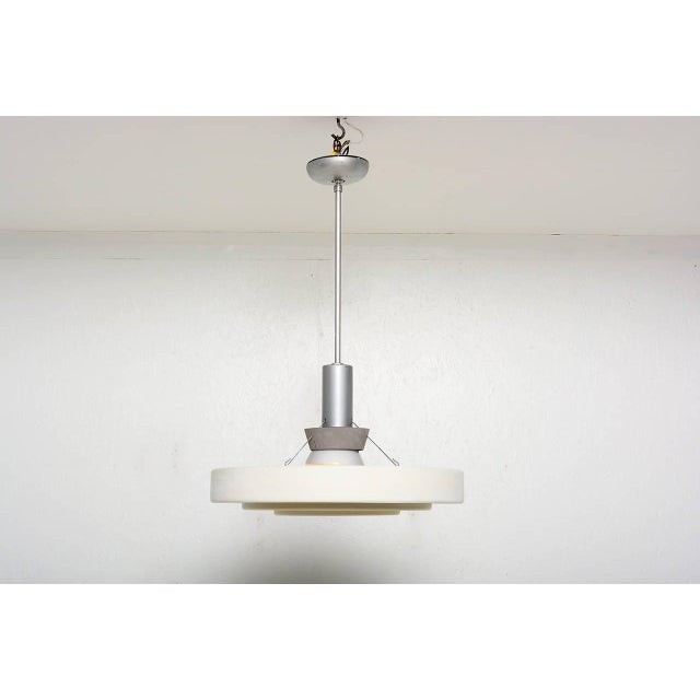 Architectural Aluminum Shade Hanging Lamp For Sale - Image 4 of 10