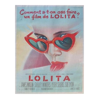"1962 Vintage French ""Lolita"" Film Poster For Sale"