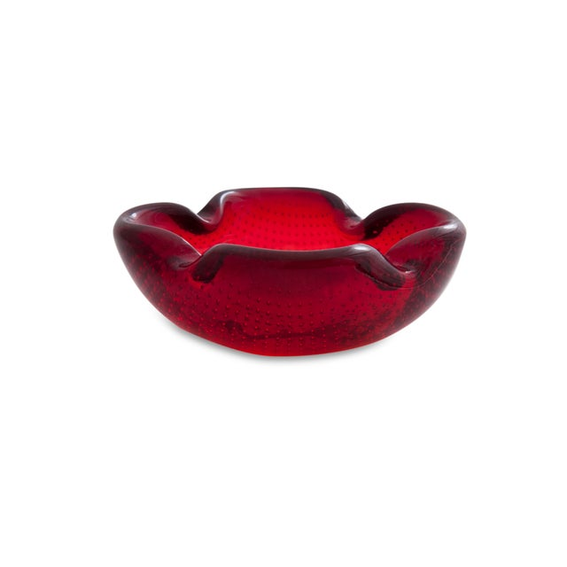 Ruby Red Pairpoint Glass Dish - Image 2 of 5
