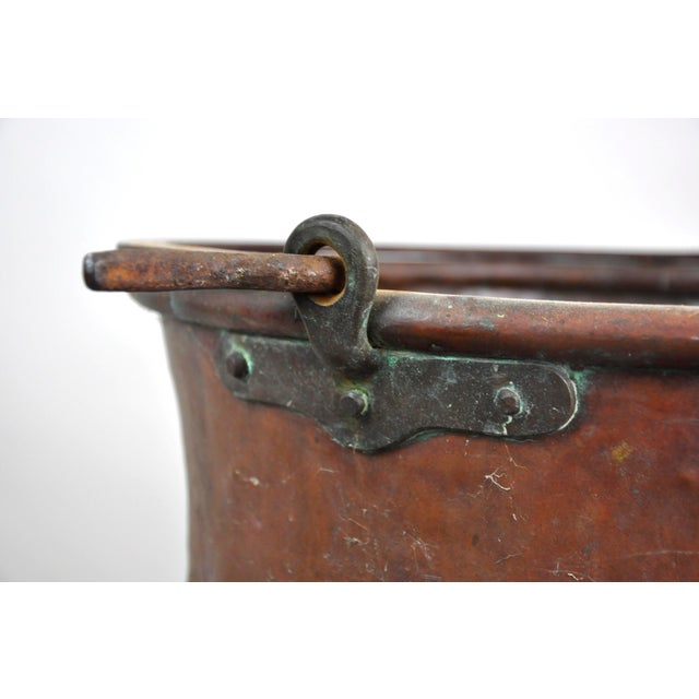 Antique French Copper Cauldron Kettle For Sale - Image 9 of 13