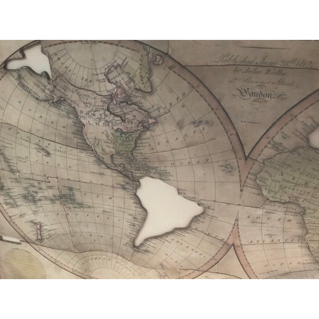 John Wallis's New Dissected 1812 Puzzle World Map For Sale - Image 4 of 10