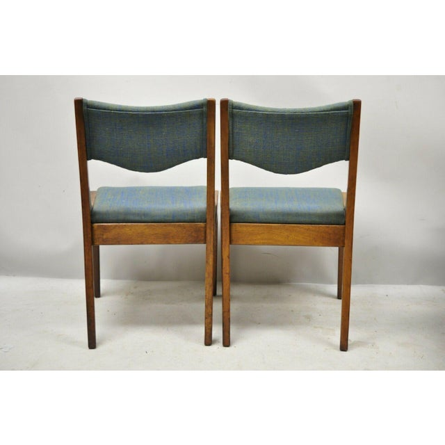 Wood Drexel Dateline John Van Koert Walnut Mid Century Modern Dining Chairs - a Pair For Sale - Image 7 of 13