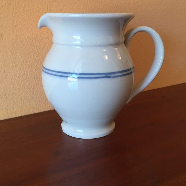 Lebanese White Ceramic Pitcher Chairish