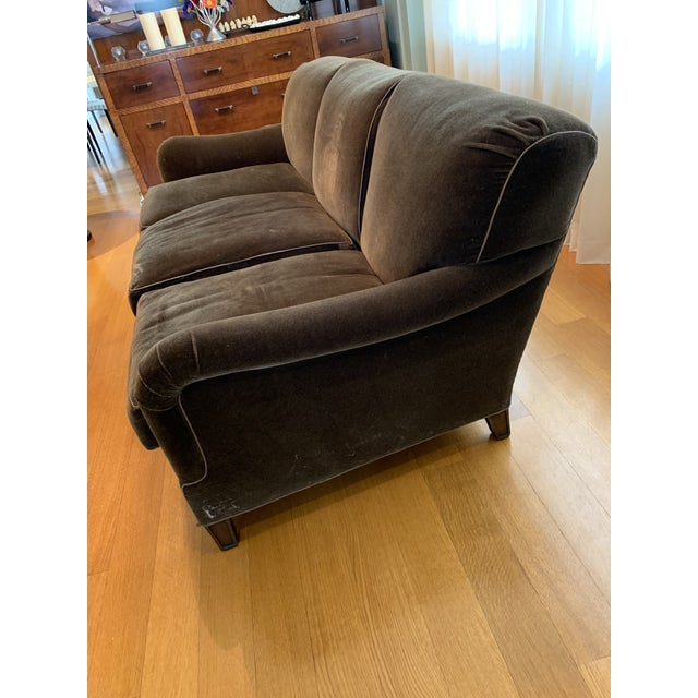 Brown Modern Schumacher Mohair Three Seat Sofa / 2 Available For Sale - Image 8 of 12