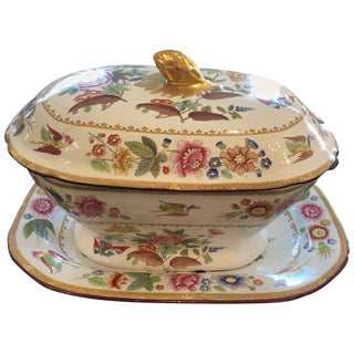 19h Century English Traditional Copeland Soup Tureen For Sale