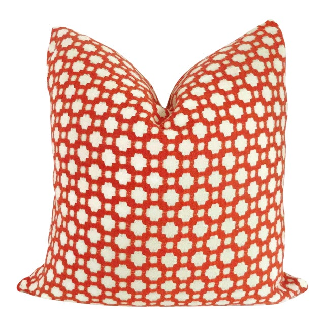 """20"""" x 20"""" Schumacher Betwixt in Spark Decorative Pillow Cover For Sale"""