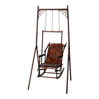 Victorian Decorative Swing Chair For Sale
