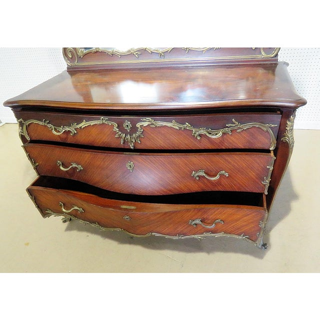 Regency Style Commode With Mirror For Sale - Image 4 of 10