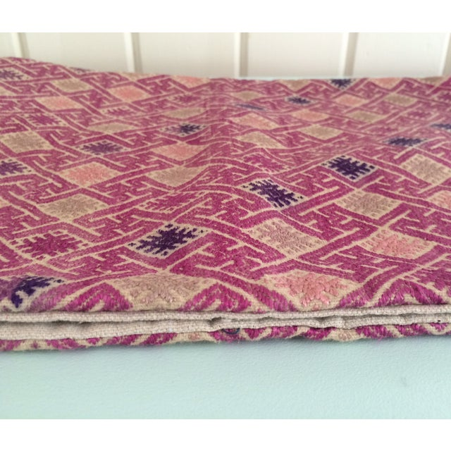 Vintage Embroidered Lumbar Pillow Cover - Image 4 of 6