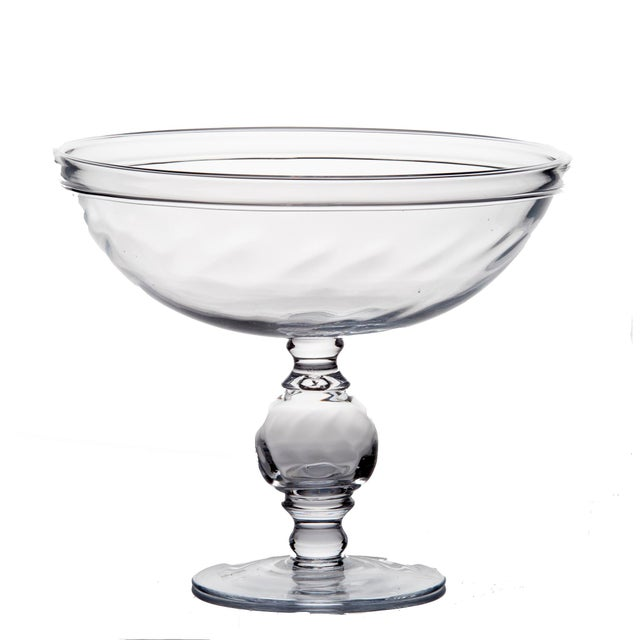 Contemporary Optic Footed Compote For Sale - Image 3 of 3