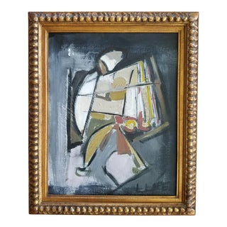 1980s L Lopez Abstract Figurative Painting For Sale