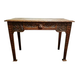 19c French Provincial Oak Side or Console Table For Sale