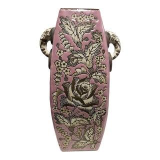 Vintage Chinese Elephant Head Handle Vase
