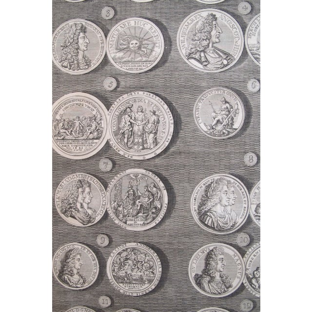 Original 1745 British Engravings, Royal Medals - A Pair - Image 5 of 9