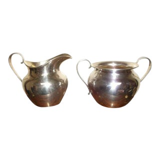 Sterling Silver Sugar and Creamer by International Silver Co. For Sale