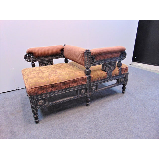 Victorian Eastlake Style Tete A' Tete Settee For Sale - Image 9 of 9