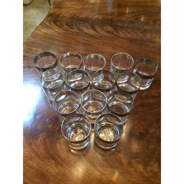 Dorothy Thorpe Vintage Dorothy Thorpe Scotch Glasses- Set of 14 For Sale - Image 4 of 8