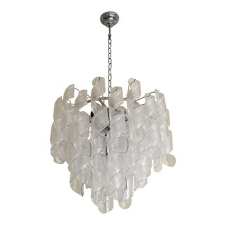 Vintage Venini Style Murano Glass Sputnik Chandelier For Sale