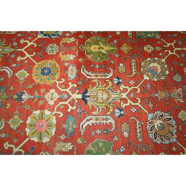"Antique Signed Decorative Persian Tabriz Rug - 9'6"" x 12'11"" - Image 5 of 6"