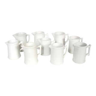 White China Pitchers, Set of 9