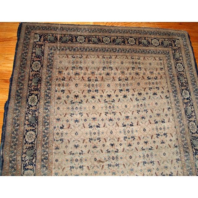 1880s Handmade Antique Persian Tabriz Hajalili Rug 4.2' X 6.5' For Sale - Image 11 of 13