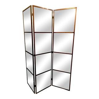 3-Panel Mirrored Floor Screen