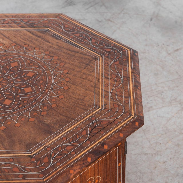 1930s Syrian Inlaid Octagonal Table For Sale - Image 4 of 5