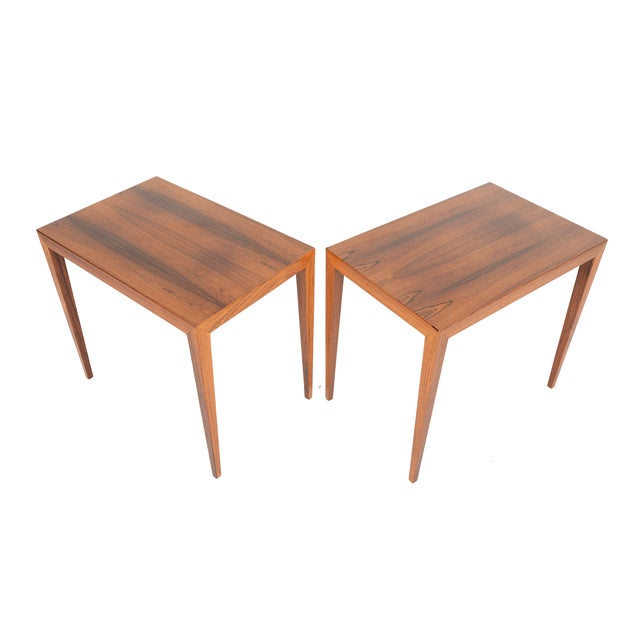 Severin Hansen Rosewood Side Tables - A Pair - Image 1 of 10