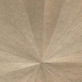Sample, Maya Romanoff Ajiro Sunburst Wood Veneer: Teak Luster - Wood Veneer Wallcovering For Sale