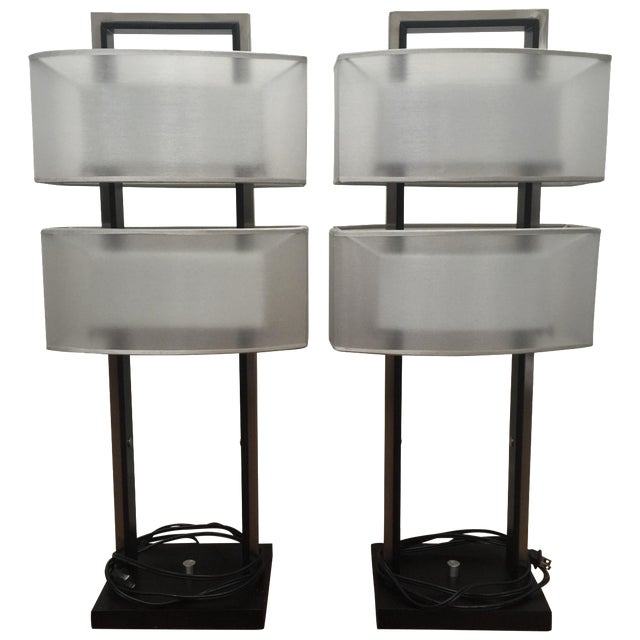 Modern Table Lamps - A Pair - Image 1 of 5