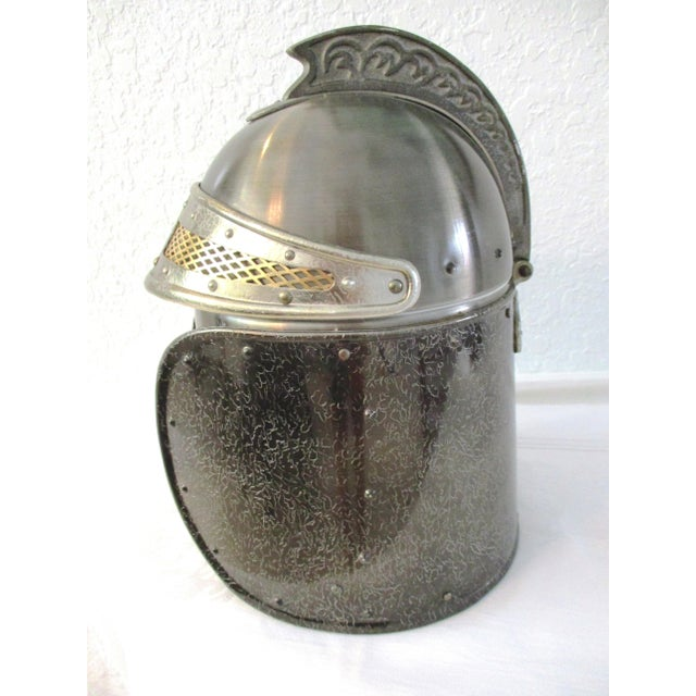 Seymour Manufacturing Company Seymour Medieval Knight Helmet Ice Bucket For Sale - Image 4 of 9