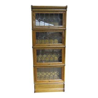 Vintage Oak Barrister Bookcase Attr Macey For Sale