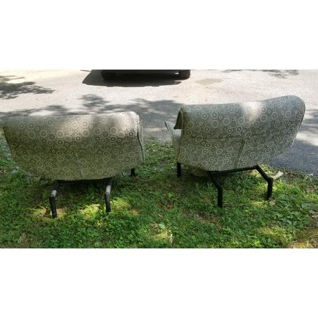Giovanni Offredi 1980's Giovanni Offredi Onda Recliner Saporiti Lounge Chairs For Sale - Image 4 of 10