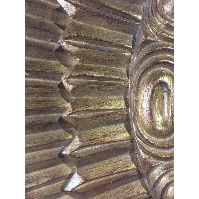 1970s Italian Rectangular Giltwood Sunburst Mirror For Sale - Image 5 of 10