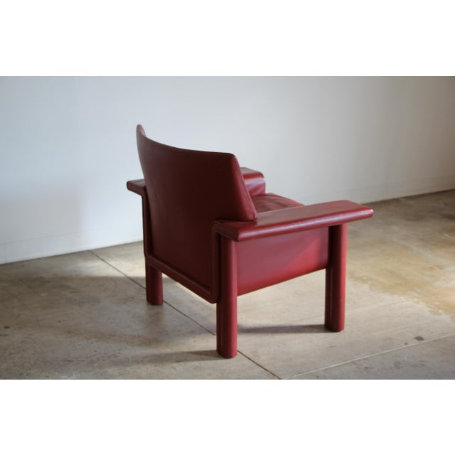 1980s Afra & Tobia Scarpa Leather Lounge Chair For Sale - Image 5 of 13