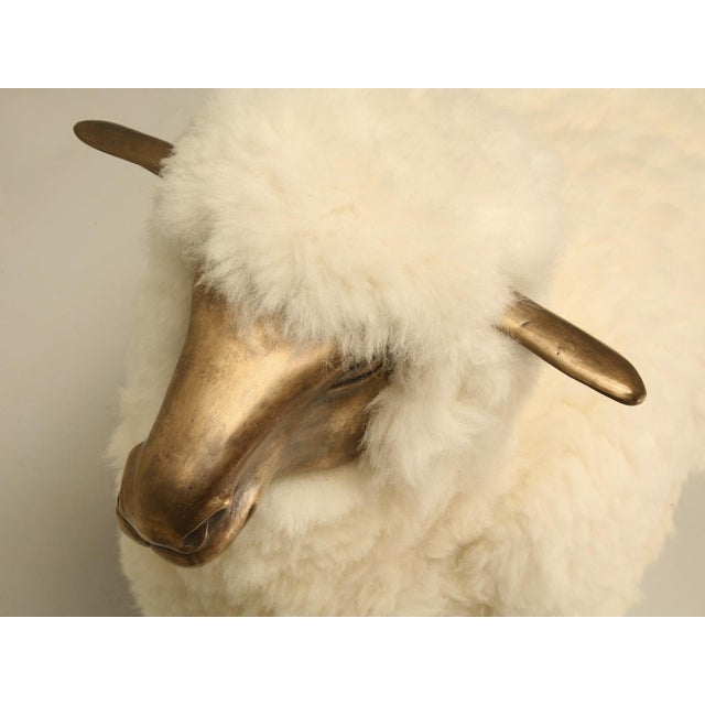 Old Plank Solid Bronze Sheep For Sale - Image 4 of 9