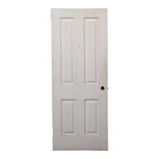 Antique Simple Pine Wood Farm House Door