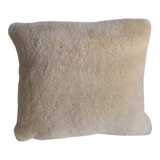 Genuine Shearling Lumbar Pillow For Sale