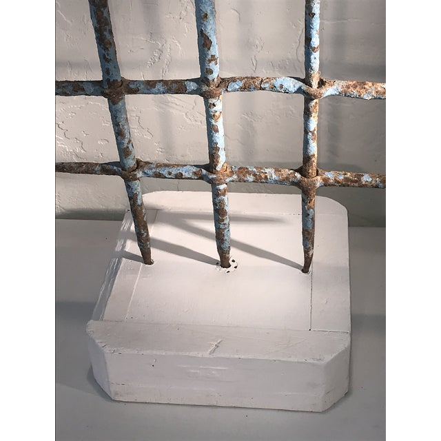 1920s Abstract Architectural Iron Sculpture Wall Hanging For Sale In San Francisco - Image 6 of 9