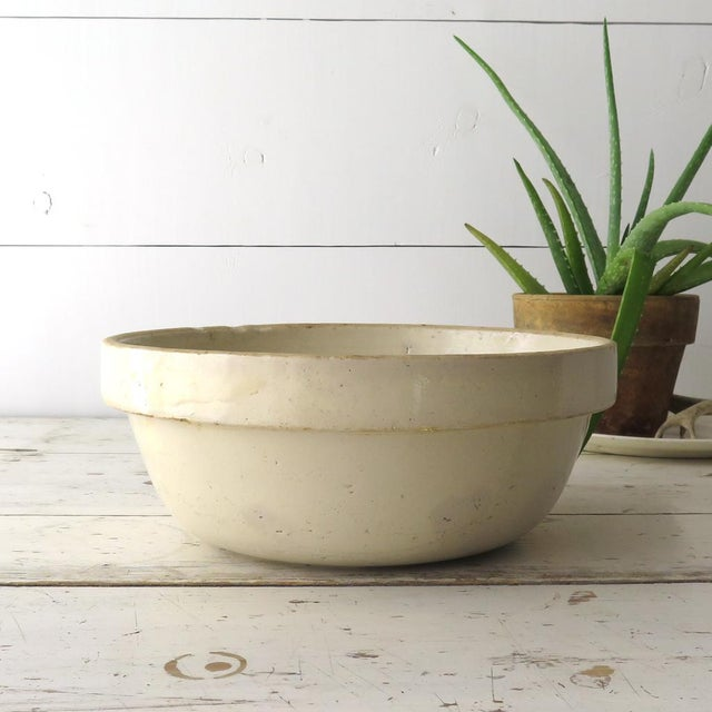 Antique Stoneware Mixing Bowl For Sale - Image 4 of 7
