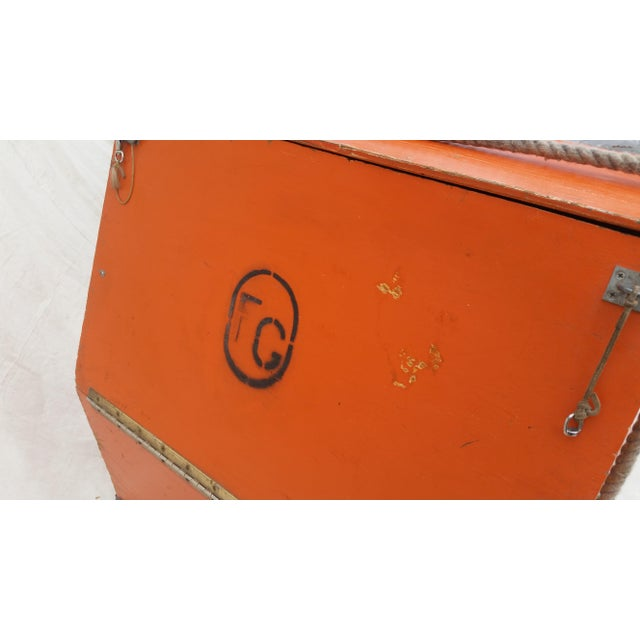 Vintage Western Orange Wood Horse Panniers From a Colorado Ranch - a Pair For Sale - Image 4 of 10