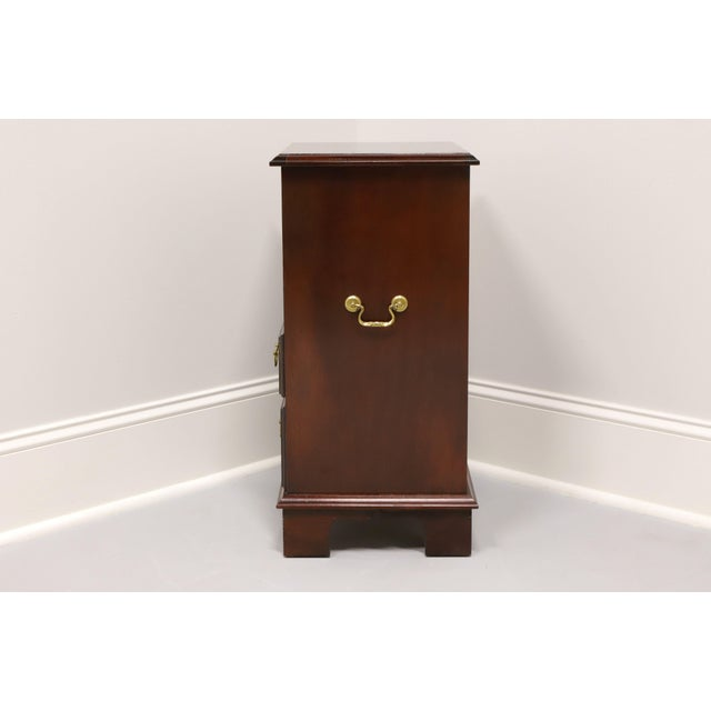 Vintage Inlaid Mahogany Traditional Open Cabinet Nightstand For Sale In Charlotte - Image 6 of 13