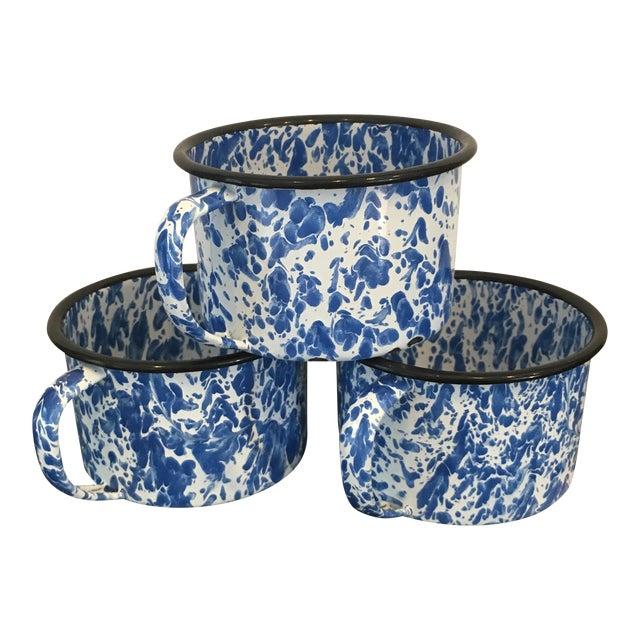 Enamel Spatterware Mugs - Set of 3 - Image 1 of 10