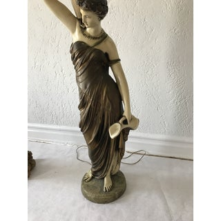 Italian Female Figure Lamp & Stand Preview