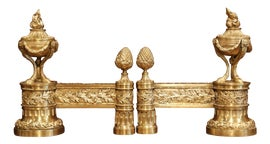 Image of Neoclassical Andirons and Chenets