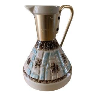 1950s Ceramic Barware Pitcher or Vase For Sale