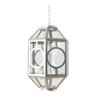 Charlotte Silver Finish Hexagonal Lantern For Sale