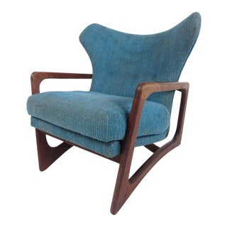 Mid-Century Modern Adrian Pearsall 2466-C Wing Back Lounge Chair For Sale